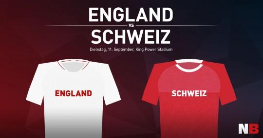 England - Schweiz am 11. September 2018. Freundschaftsspiel