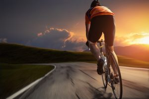 tour de france, cyclicst, sunset, cycling