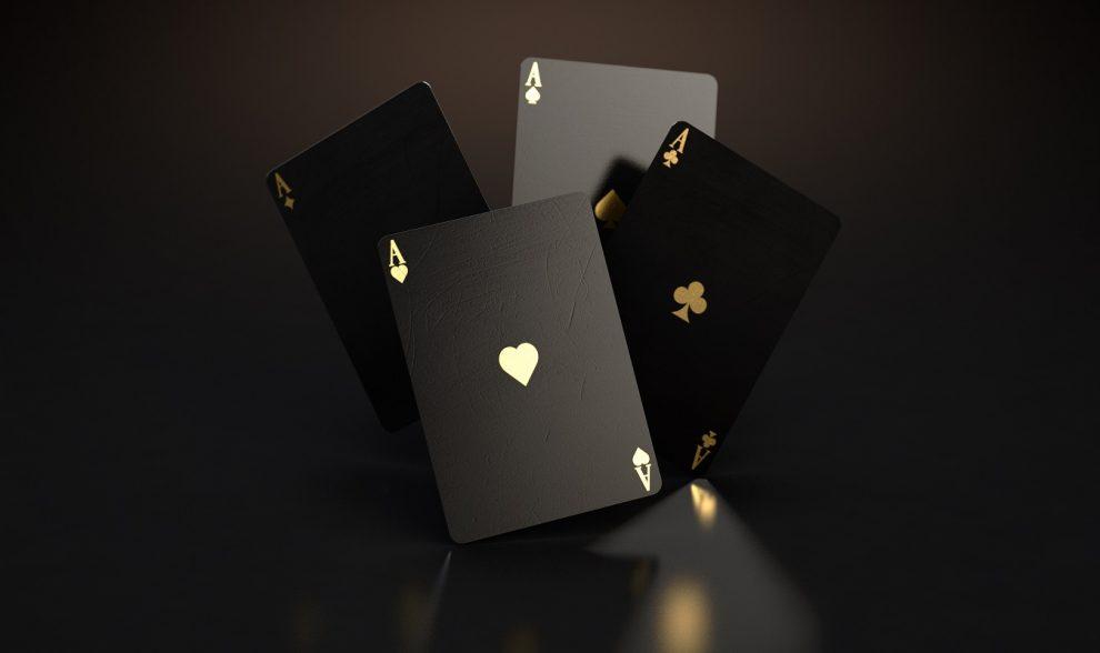 cards, gambling, black