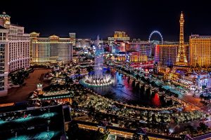 las vegas, lights, night