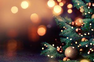 christmas tree, christmas lights, bauble