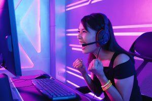 gamer, girl, gaming