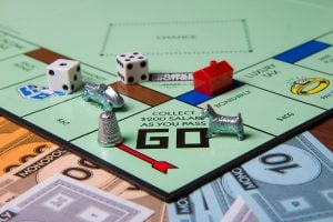 Monopoly game, monopoly, board game