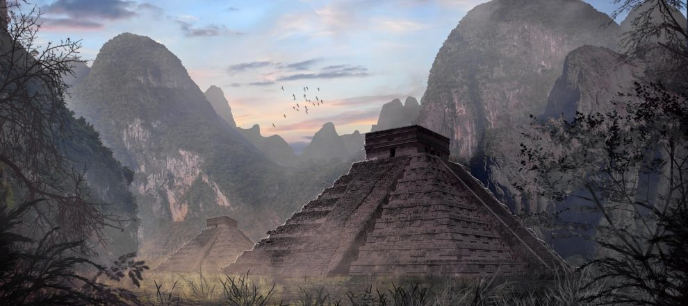 Maya, mayan temple, guatemala